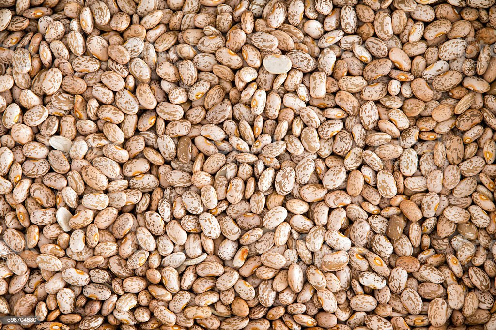 Healthy Brown Pinto Beans for Wallpaper Background stock photo