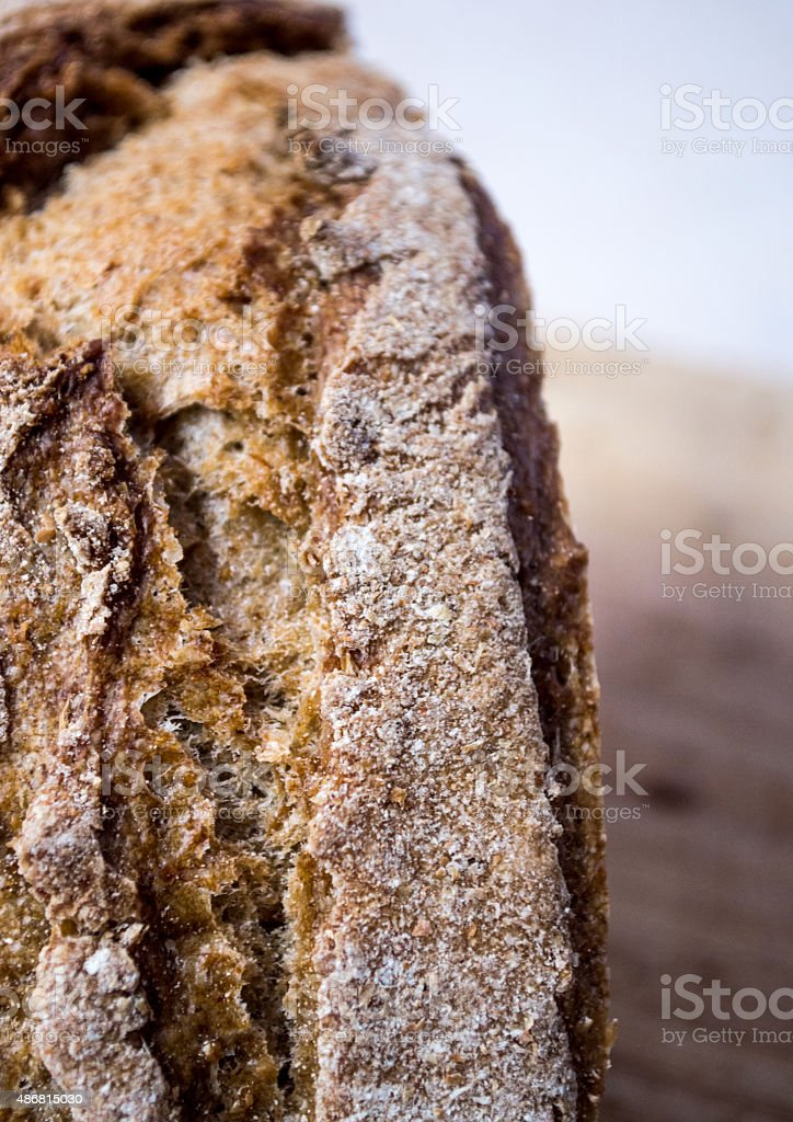 Healthy Brown Whole Wheat/Meal/Grain Bread Crust royalty-free stock photo