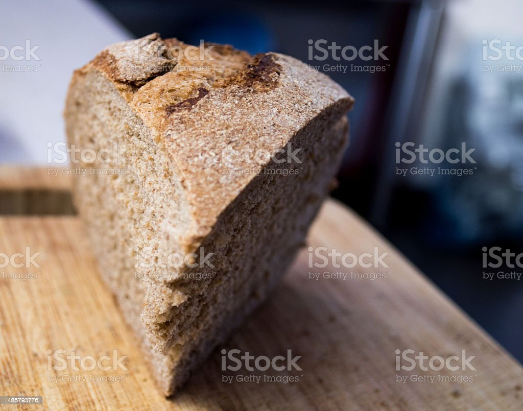 Healthy Brown Whole Wheat/Meal/Grain Bread Wedge royalty-free stock photo