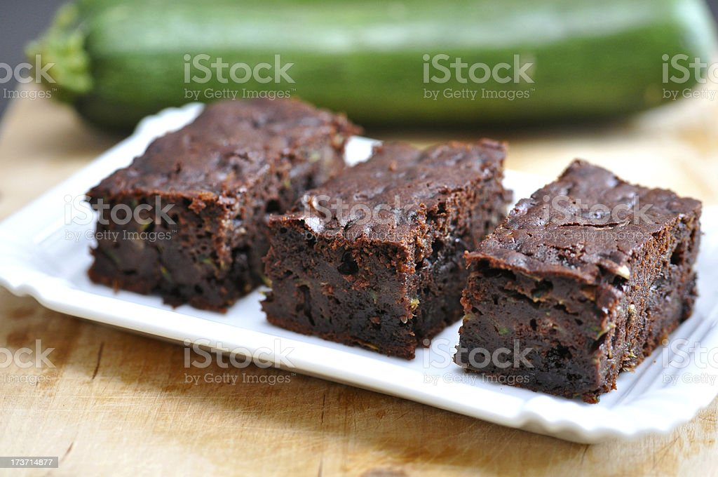 Healthy Brownie with Zucchini stock photo