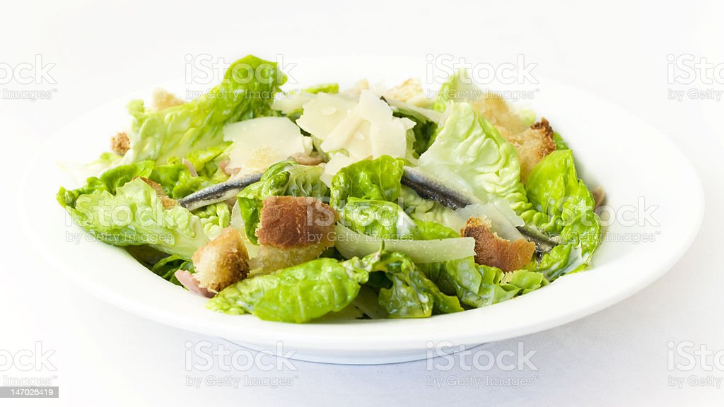 Healthy Caesar Salad stock photo