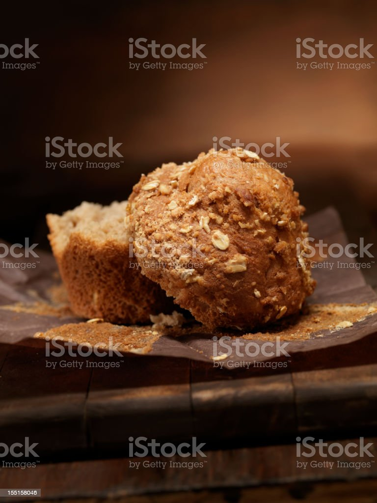 Healthy Carrot and Oat Muffins stock photo