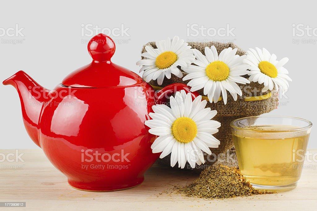 healthy chamomile tea stock photo