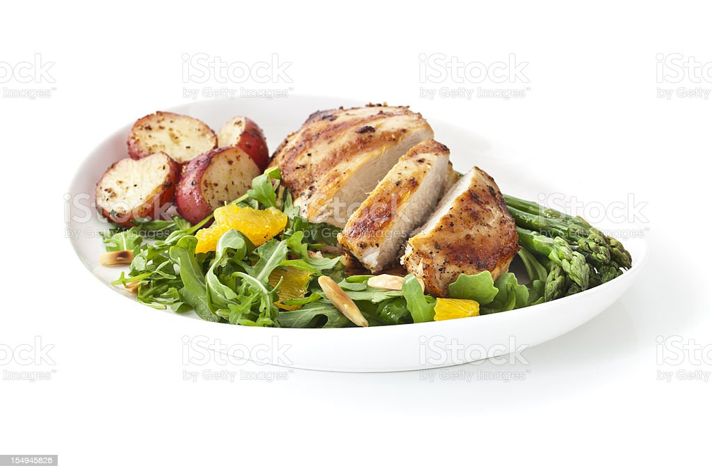 Healthy Chicken Dinner stock photo