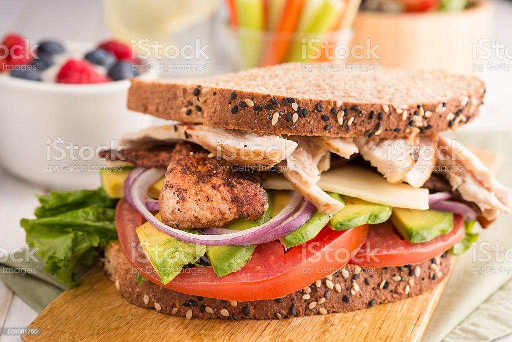 Healthy Chicken Sandwich stock photo