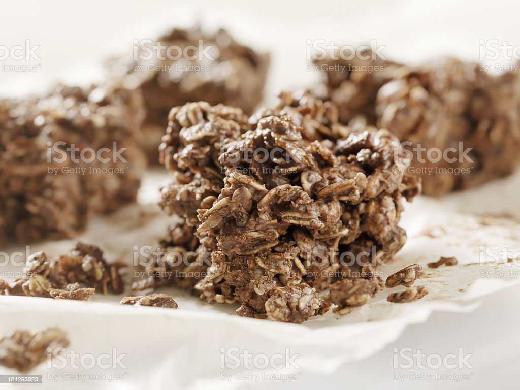 Healthy Chocolate Oat Bars royalty-free stock photo