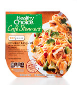 Healthy Choice Cafe Steamers Chicken Linguini with Red Pepper Al