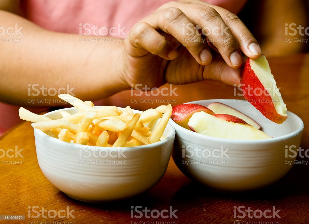 Healthy choice stock photo