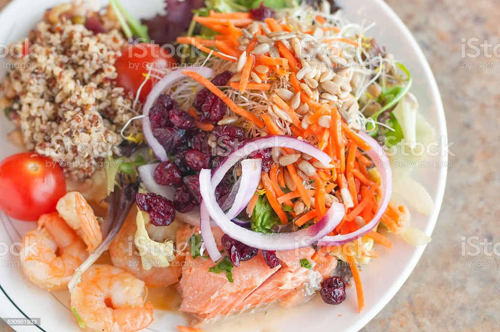 Healthy Choices from a Salad Bar stock photo