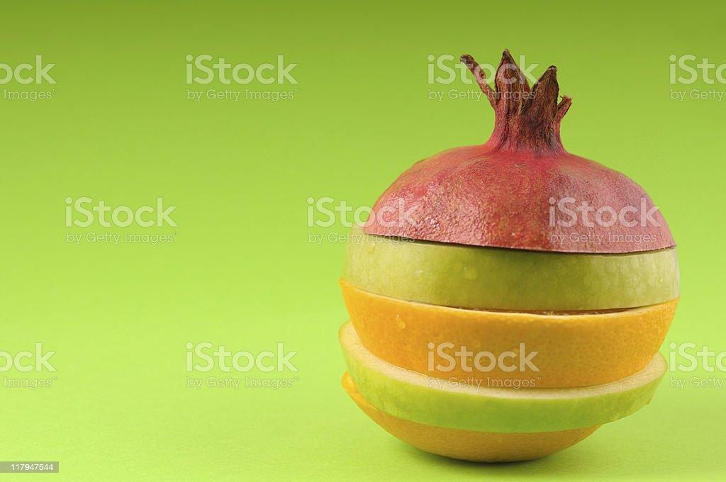 Healthy chopped fruits royalty-free stock photo