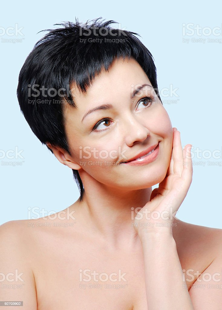 healthy condition of skin royalty-free stock photo