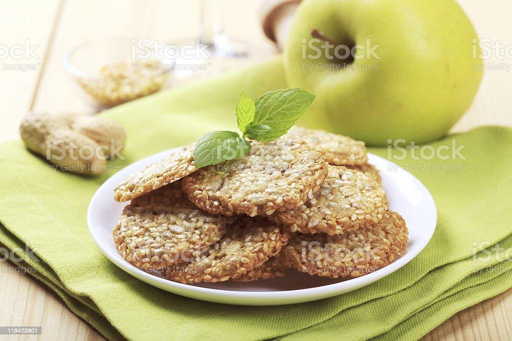 Healthy cookies stock photo