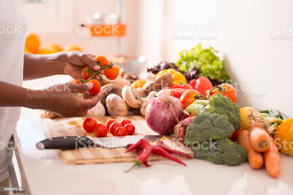 Healthy cooking. stock photo
