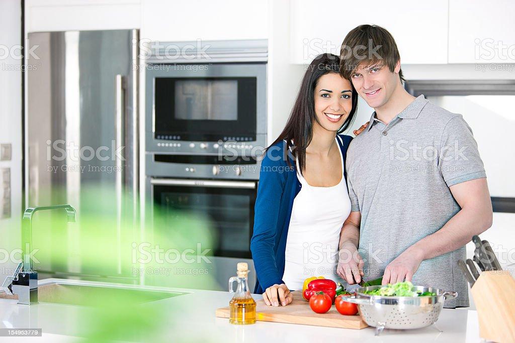 Healthy couple royalty-free stock photo