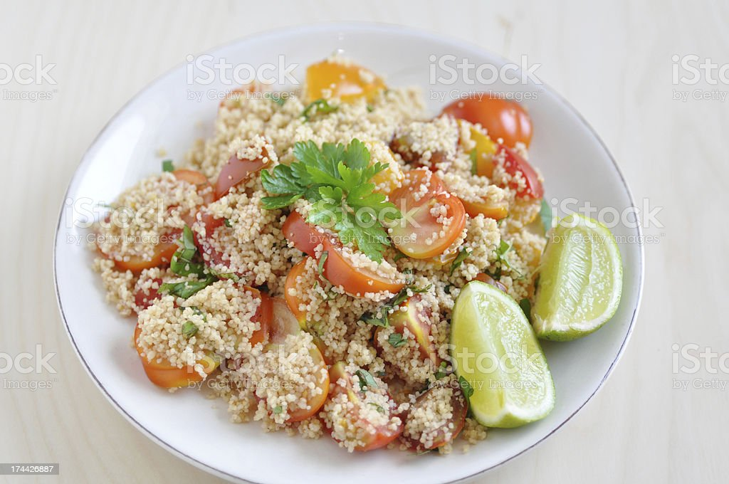 Healthy Couscous Salad royalty-free stock photo