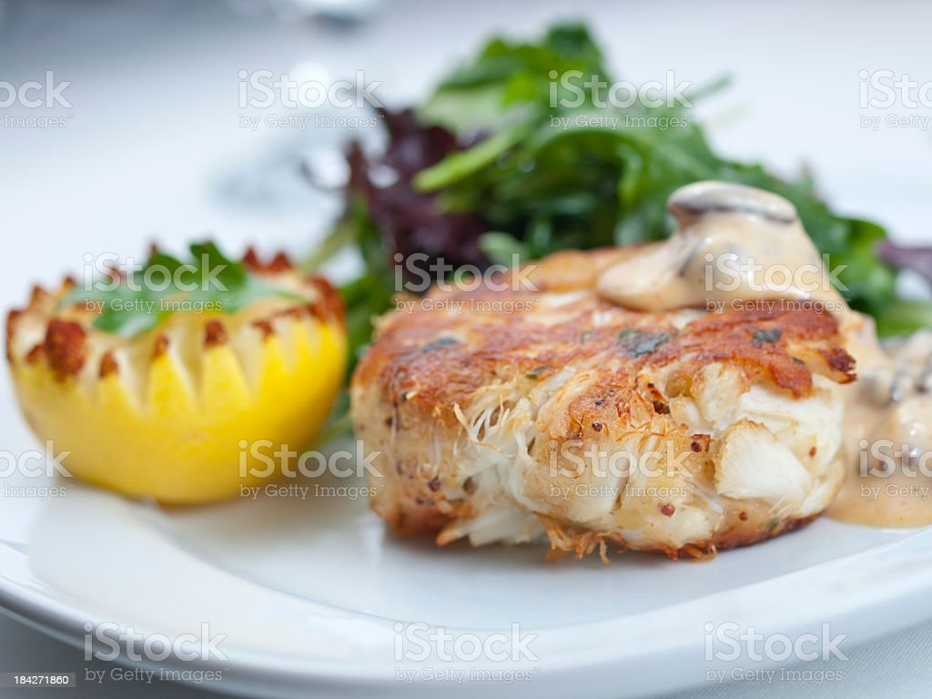 Healthy Crab Cake stock photo