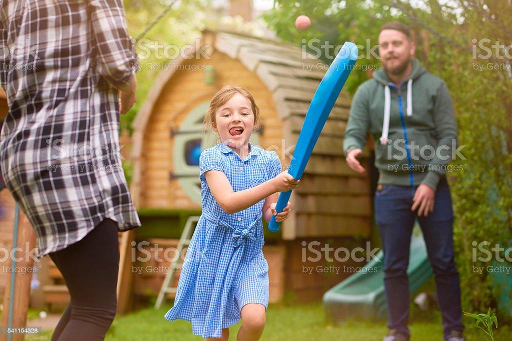 healthy cricket family in the garden stock photo