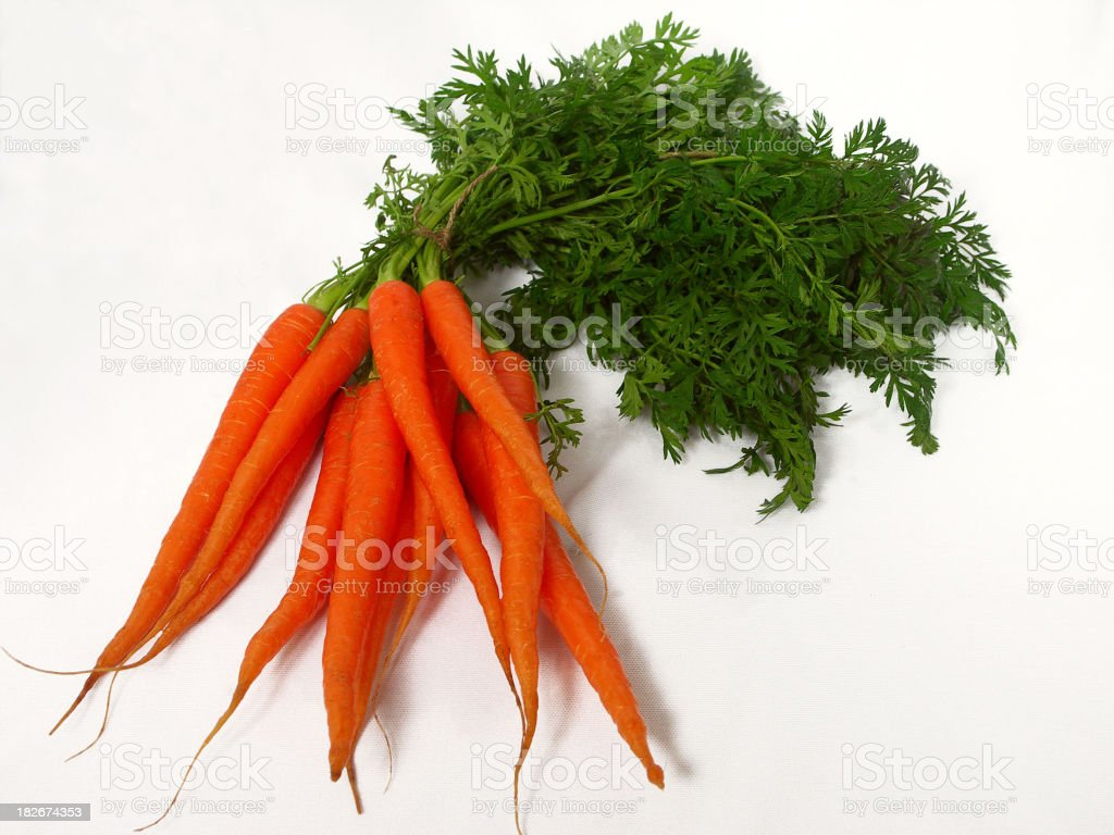 Healthy, crunchy carrots stock photo