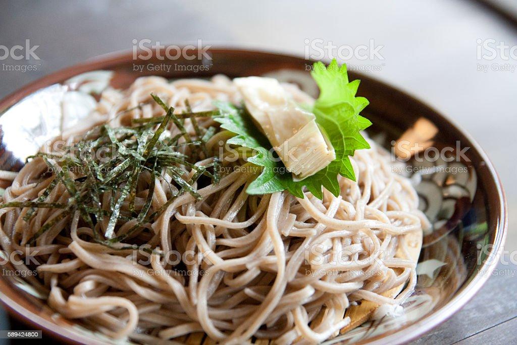 Healthy delicious buckwheat and Yuba stock photo