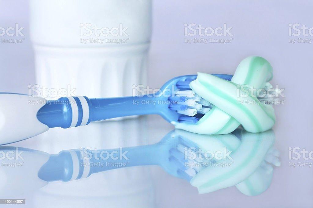 healthy dental hygiene stock photo