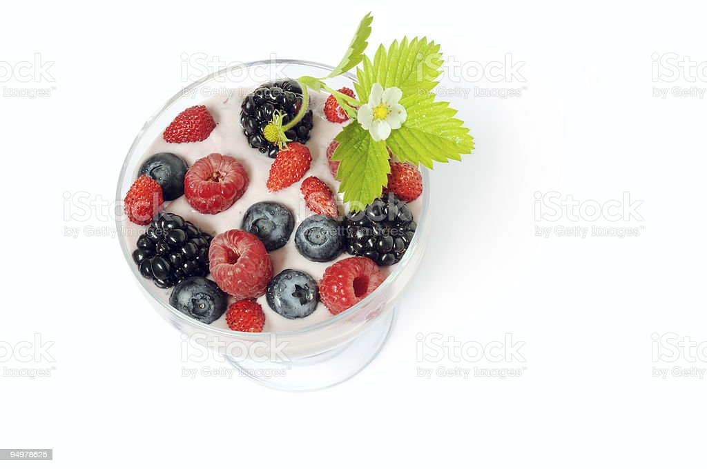 healthy dessert royalty-free stock photo