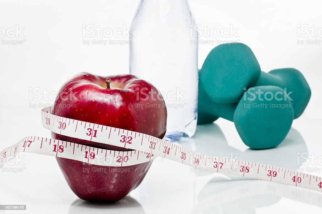 Healthy diet and exercise royalty-free stock photo