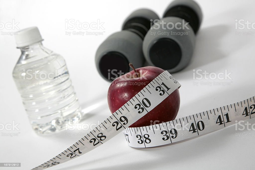 healthy diet and exercise = weight loss royalty-free stock photo