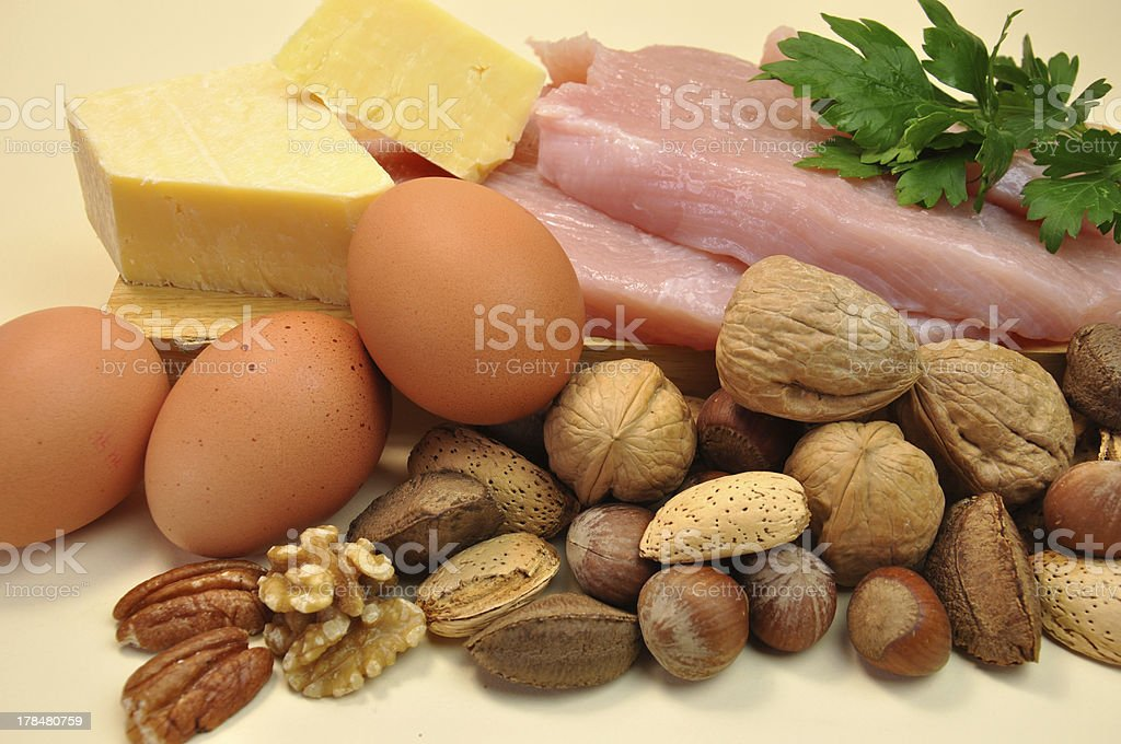 Healthy Diet food group, proteins - closeup. stock photo