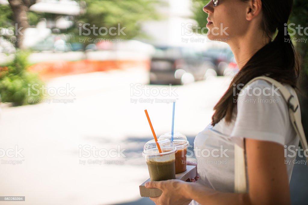 Healthy drinks stock photo