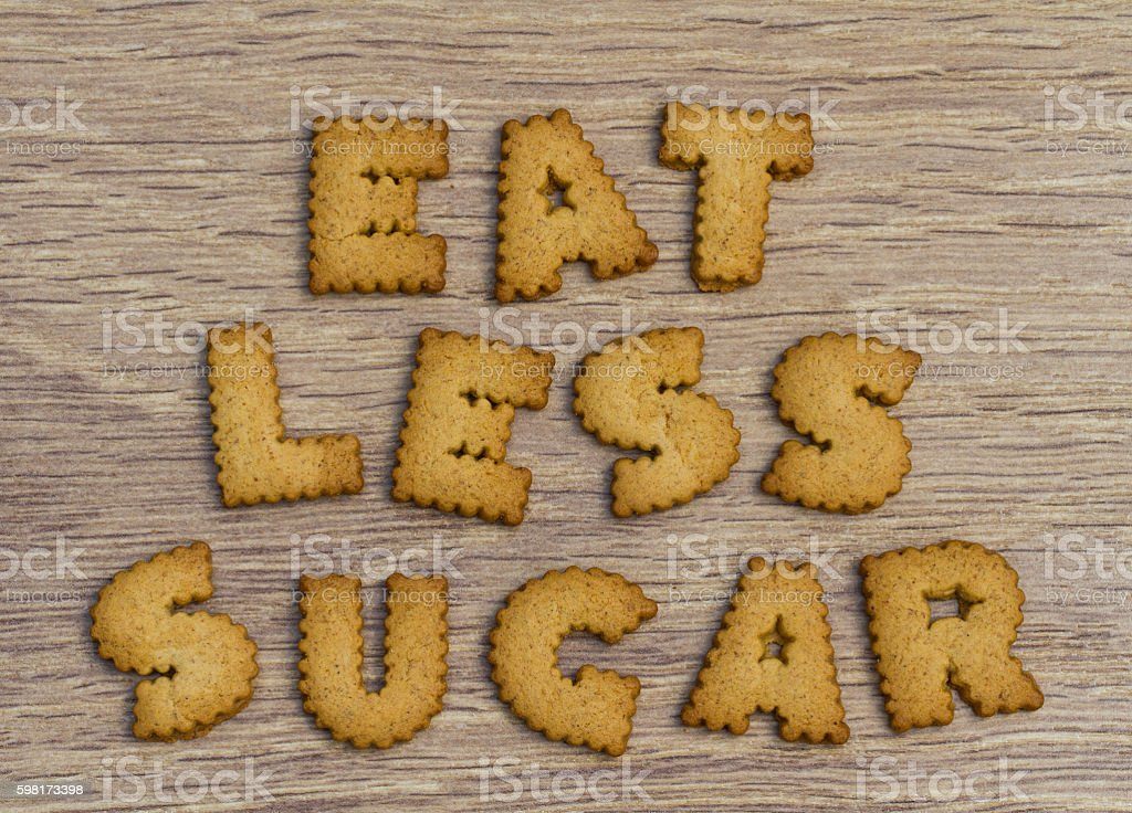 Healthy Eating Advice To Eat Less Sugar stock photo