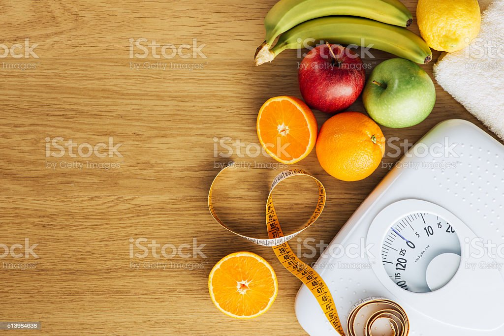 Healthy eating and weight loss concept stock photo