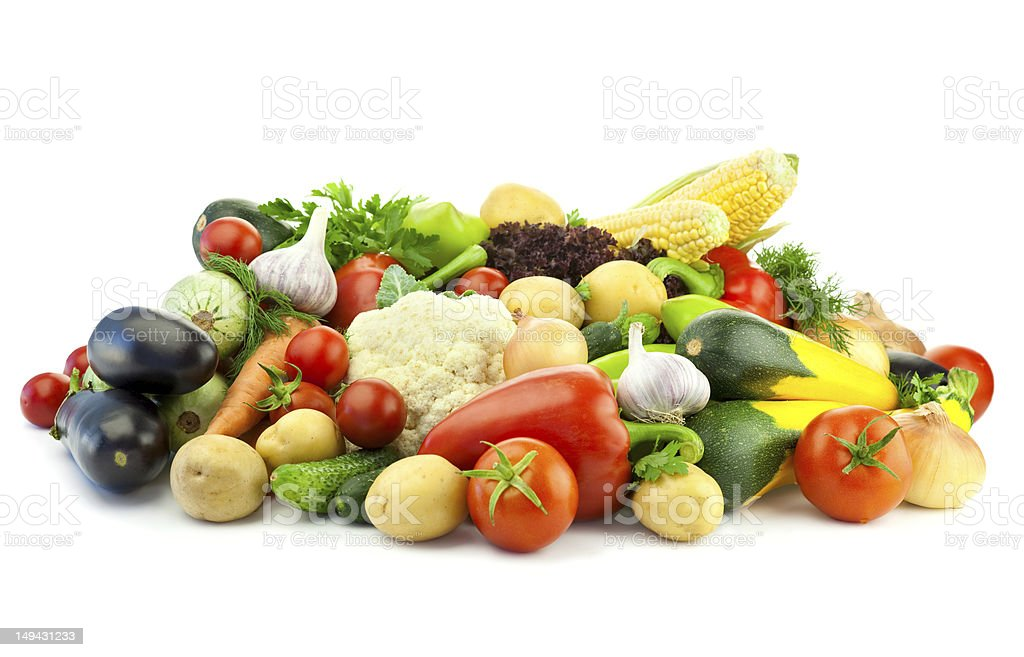 Healthy Eating / Assortment of Organic Vegetables royalty-free stock photo