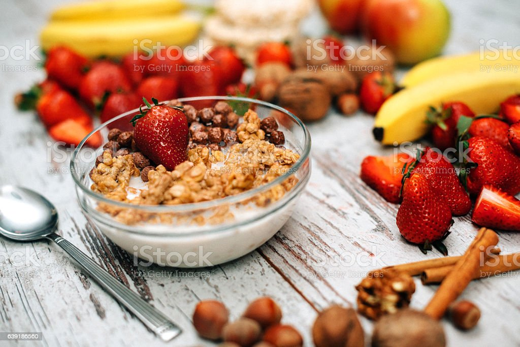 Healthy eating for healthy living stock photo