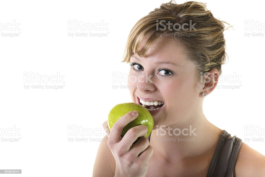 Healthy eating for teens stock photo