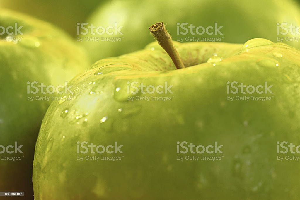 Healthy Eating Green Apples stock photo