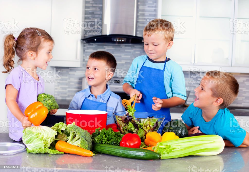 Healthy eating habits from early age stock photo