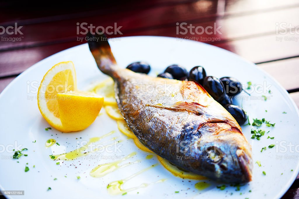 healthy eating in restaurant stock photo