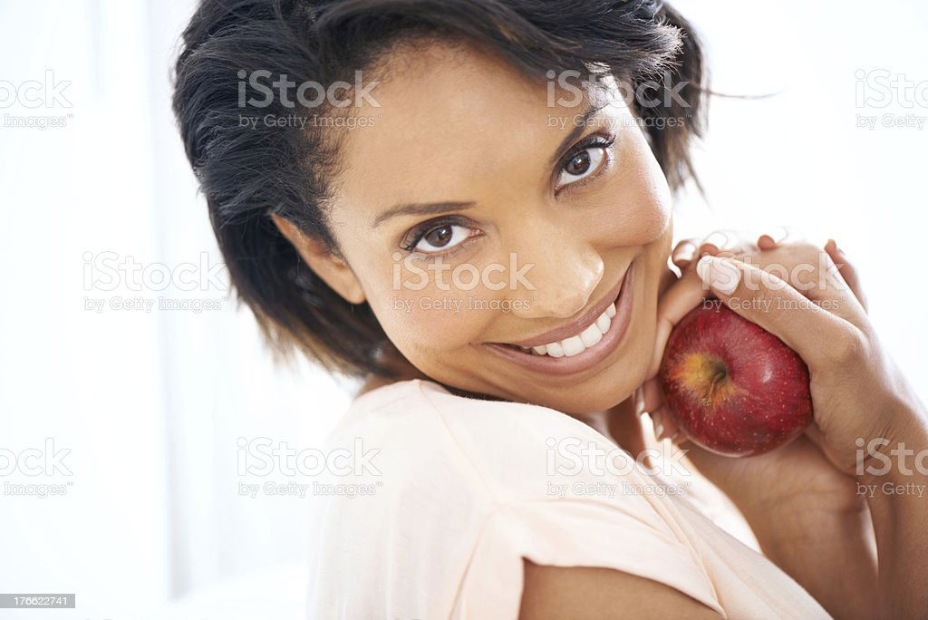 Healthy eating is a passion of hers royalty-free stock photo