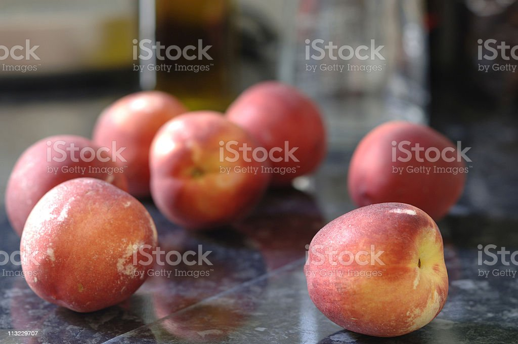 Healthy eating lifestyle, ripe nectarines royalty-free stock photo