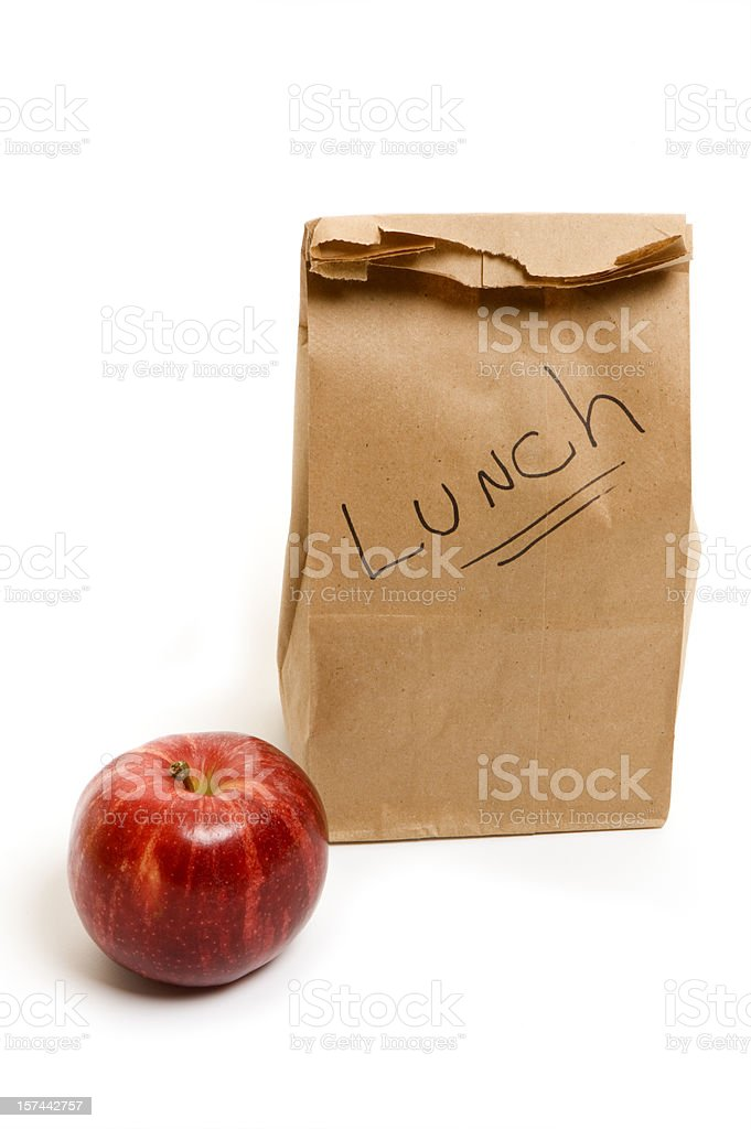 Healthy eating - packed lunch for school or office royalty-free stock photo