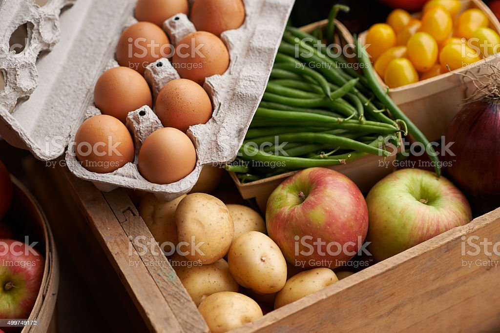 Healthy eating starts here stock photo