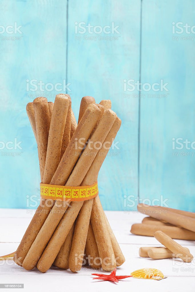 Healthy Eating  stick bread royalty-free stock photo