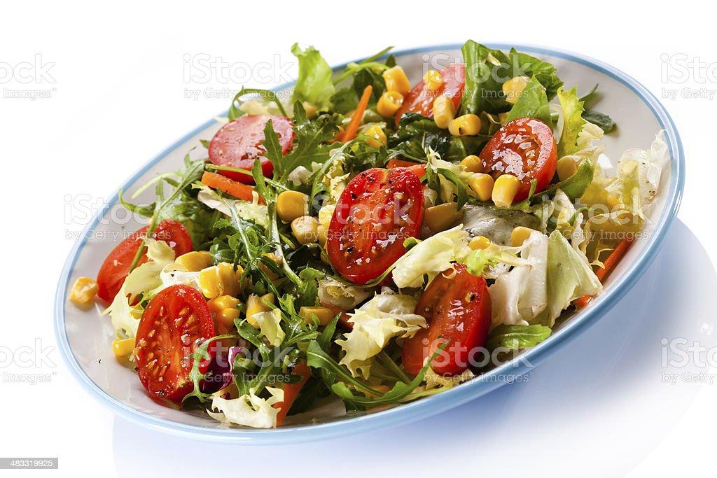 Healthy eating - vegetable salad stock photo