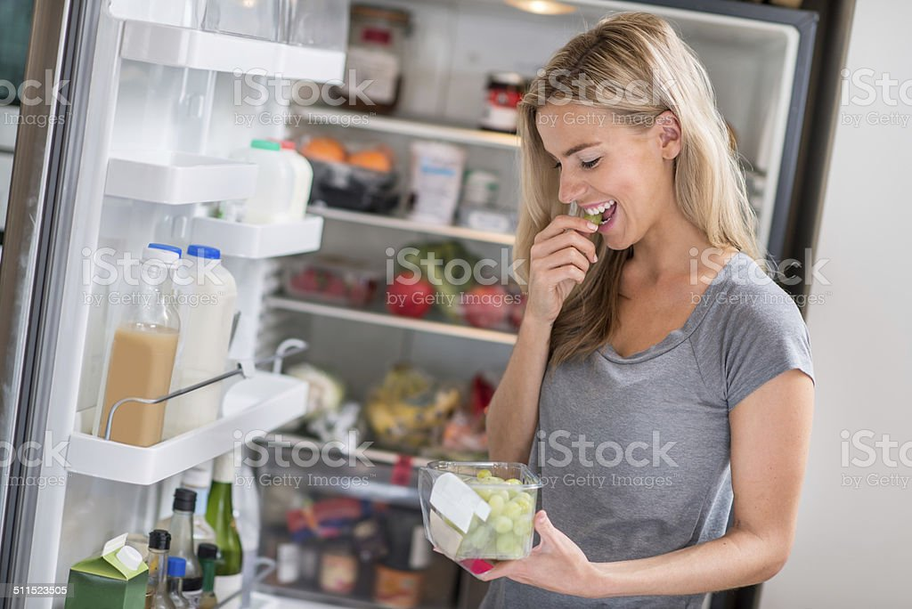 Healthy eating woman stock photo