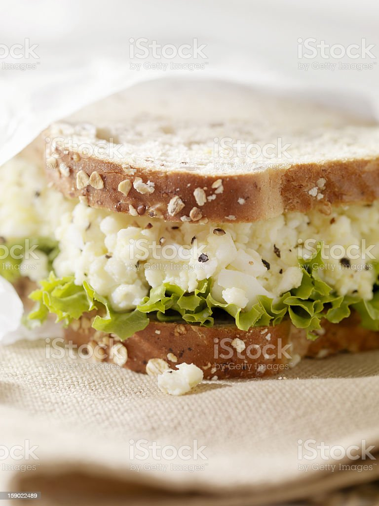 Healthy Egg Salad Sandwich on Multigrain Bread stock photo