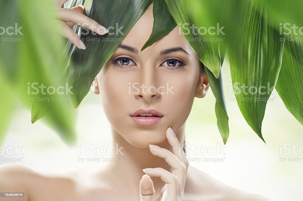 healthy face stock photo