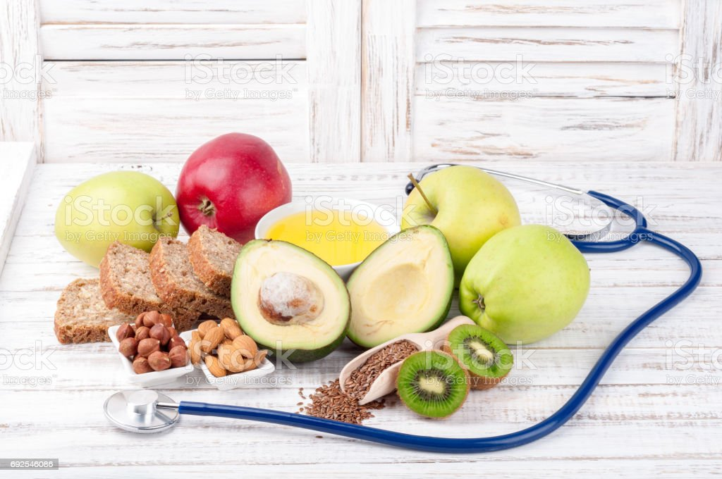 Healthy fat sources and healthy food that is good for the heart,...