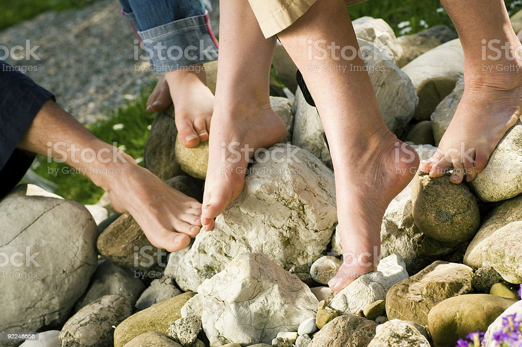 Healthy feet: on the stones royalty-free stock photo