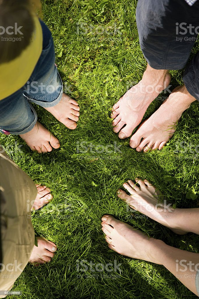 Healthy feet: standing together royalty-free stock photo