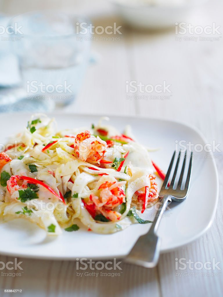 Healthy fennel salad stock photo